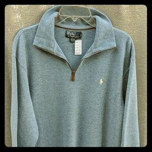 Polo Ralph Lauren zip neck cotton pullover L